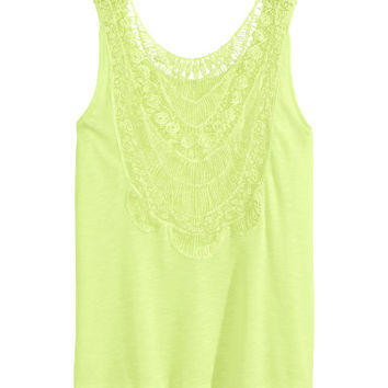 H&M Tank Top with Lace $14.95