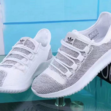 """Adidas"" Fashion Casual Knit Fly Line Unisex Sneakers Couple Running Shoes"
