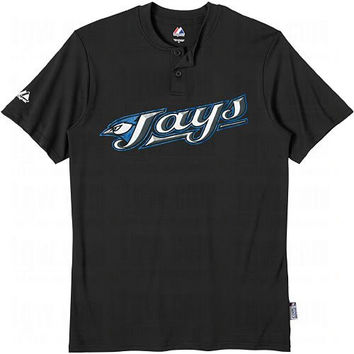 Toronto Blue Jays (YOUTH SMALL) Two Button MLB Officially Licensed Majestic Major League Baseball Replica Jersey
