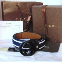 Gucci Web Belt - with box, tags, receipt - BRAND NEW - FREE DELIVERY!!