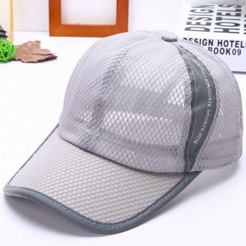 PEAPUNT 2016 new fashion sports caps Baseball cap Mesh hat Ventilate and cool hats for girl boy women men Solid cotton Adjustable hat