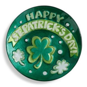 GLASS FUSION® Happy St Patrick's Day Round Plate
