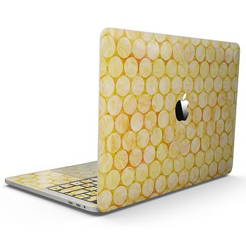 Yellow Sorted Large Watercolor Polka Dots - MacBook Pro with Touch Bar Skin Kit