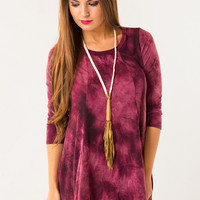 Keep the Focus Dress in Maroon