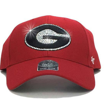 Georgia Bulldogs '47 Brand Adjustable Cap + Custom Swarovski Crystals