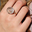 Who's The Fairest Clear Stone Wire Wrapped Ring