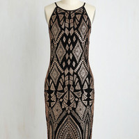 Long Sleeveless Sheath Sparkle-Spirited Dress