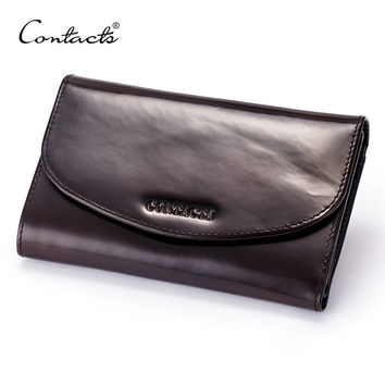 Men Long Wallet Designer Burnished Italy Leather Male Purse Clutch Luxury Wallets