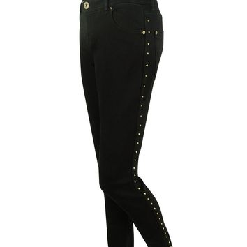 INC International Concepts Women's Studded-Seam Skinny Jeans