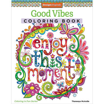 Good Vibes Adult Coloring and Activity Book Coloring Pages