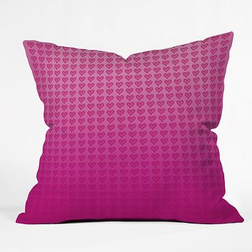 Leah Flores Heart Attack Throw Pillow