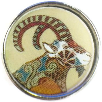 Capricorn Art Deco Zodiac Sign Horoscope Symbol 18MM - 20MM Charm for Snap Jewelry New Item