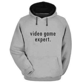 video game expert Hoodie Sweatshirt Sweater Shirt Gray and beauty variant color for Unisex size