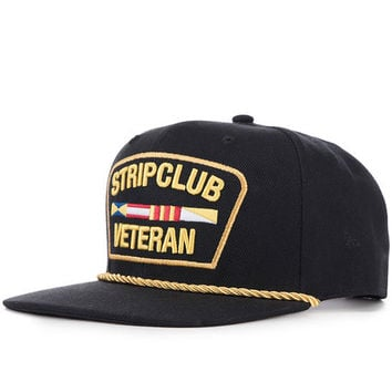 The Strip Club Veteran Hat in Black