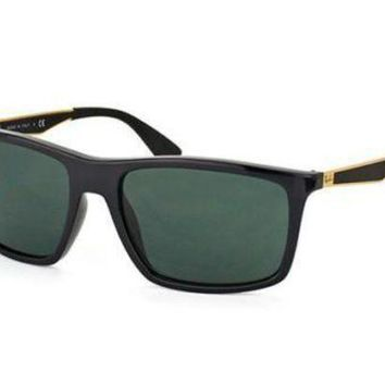 Kalete NEW Genuine Ray Ban RB4228 622771 58 Black Shiny Mens Womens Sunglasses Glasses