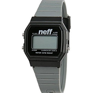 Neff Flava Digital Watch, Grey/Black, One-Size