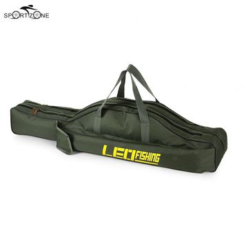 100/150cm Canvas Fishing Bag Outdoor Multifunctional Folding Fishing Rod Pouch Fishing Pole Reel Storage Bags Fishing Gear Pesca