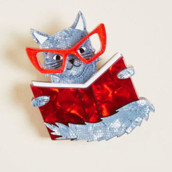 Erstwilder Puss in Books Resin Pin