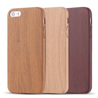 Wood iPhone Case with Leather