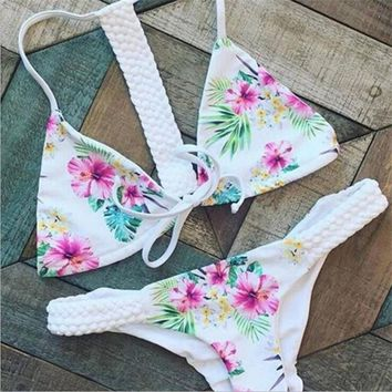 Sexy Swimwear Women 2016 Brazilian Print  Bikini Set  low waist Beach Swimwear Ladies Swimsuit Bathing Suit Maillot De Bain