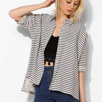 BDG Stripe Oversized Button-Down Shirt - Urban Outfitters