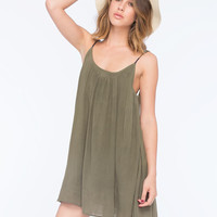 Roxy Tidal Wave Dress Olive  In Sizes