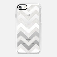 SILVER CHEVRON WHITE iPhone 6 Crystal Clear iPhone 7 Hülle by Monika Strigel | Casetify