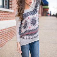 Snow Way Sweater, Gray