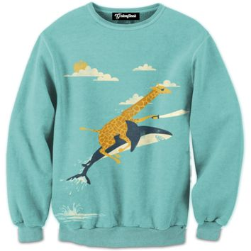 Giraffe Pirate Crewneck