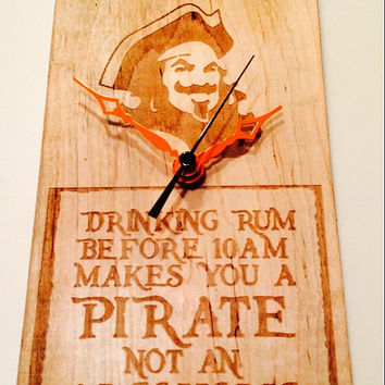 Captain Morgan Spiced Rum Pirate Clock