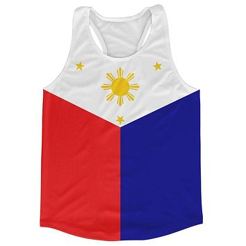 Philippines Country Flag Running Tank Top Racerback Track and Cross Country Singlet Jersey