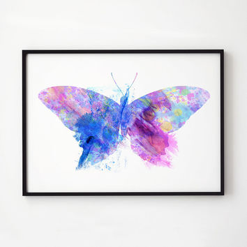 Butterfly poster Colorful decor Insect art EM299