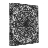 black white kaleidoscope pattern vinyl binders