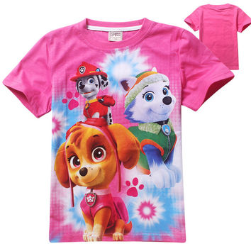 Baby Clothes Girl Summer Fashion Cartoon Dog Patrol Short Sleeve T Shirt Children Clothing Dogs Girls T Shirt Patrol Clothes