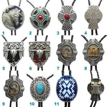 JEAN'S FRIEND Original Western Bolo Tie For Men Wedding Leather Necklace Mix Style Choice Also Stock in US