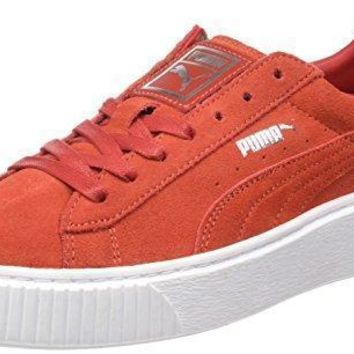 Puma Suede Platform Leather Sneaker Women Trainers red 362223 03