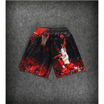 summer New men's 3D print American pros jordan/LeBron James shorts harajuku casual shorts hip hop shorts free shipping