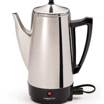 Coffee Machine Maker Percolator Pot Best Electric Stainless Filter 2-12 Cup