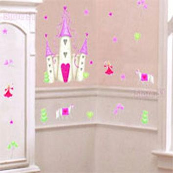 Princess Castle Large Wall Accent 20pc Wall Sticker Set