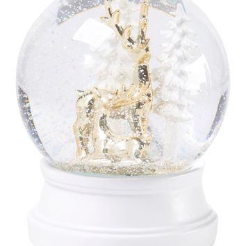Musical Reindeer Snow Globe - Holiday Decor - T.J.Maxx