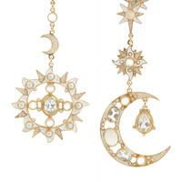 Percossi Papi | Diego Sun and Moon gold-plated multi-stone earrings | NET-A-PORTER.COM