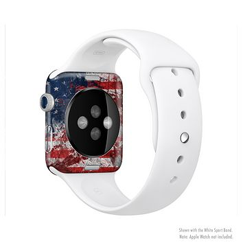 The Grungy American Flag Full-Body Skin Set for the Apple Watch