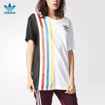 """Adidas""Fashion Casual Stripe Pattern Letter Short Sleeve T-shirt"