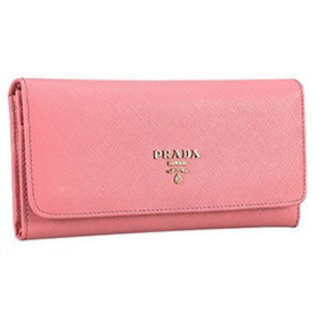 Prada Saffiano Leather Pink Wallet