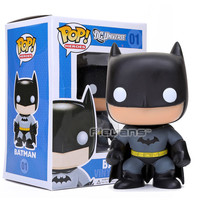 "FUNKO POP Heroes  DC Batman #01 Bobble Head Wacky Wobbler PVC Action Figure Collection Toy Doll 4"" 10CM FKFG114"