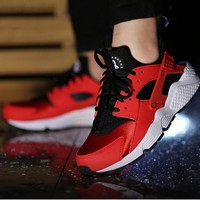 """""""NIKE""""AIR Huarache Running Sport Casual Shoes Sneakers red-black-white H-AA-SDDSL-KHZH"""