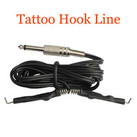 1 x Tattoo Clip Cord For Tattoo Gun Ink Tip Machine Tattoo Power Supply stainless steel ends Line Tattoos Accessories Clip Cord