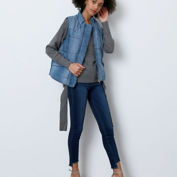 Back In Mind Denim Vest - Blue