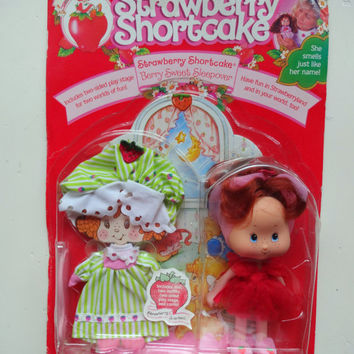 Vintage Strawberry Shortcake Berry Sweet Sleepover Doll NIB 1991