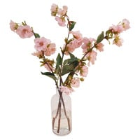 "21"" Cherry Blossoms in Bottle Vase, Faux"